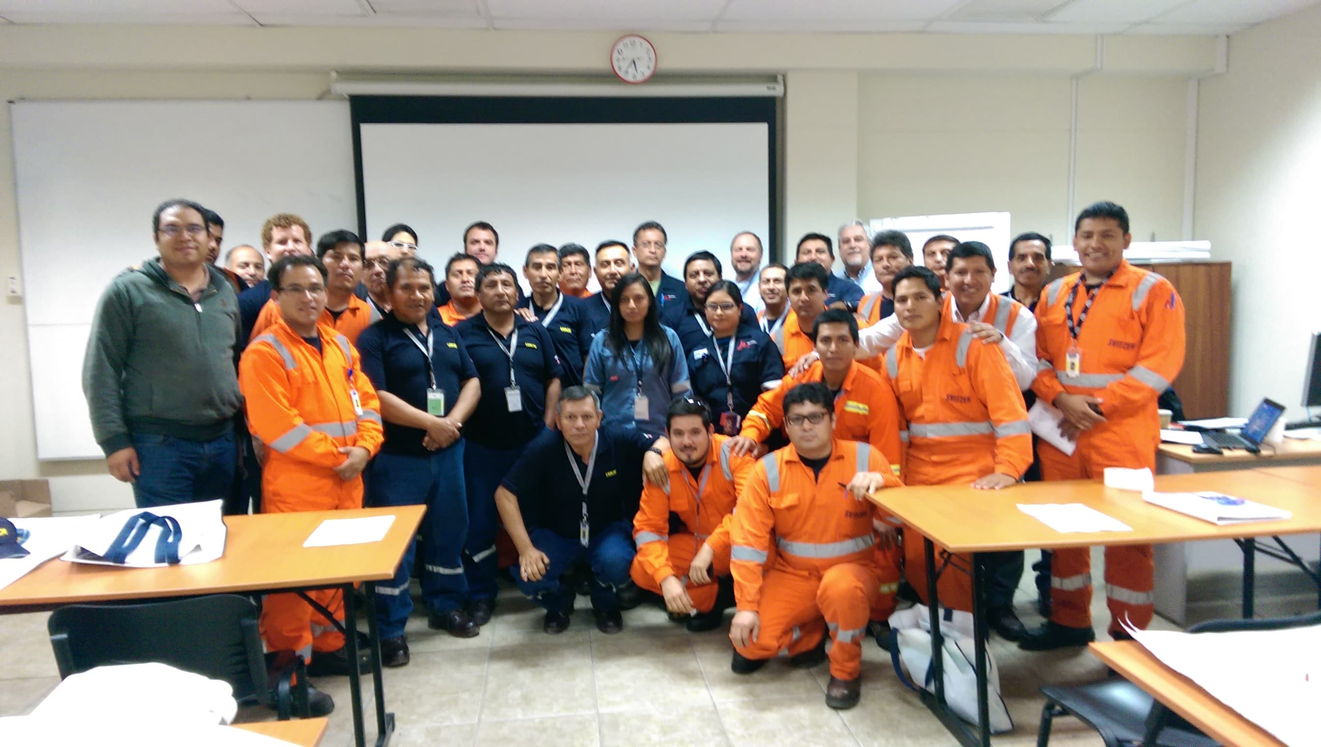 Staff from one of Lamor´s hubs in Latin America
