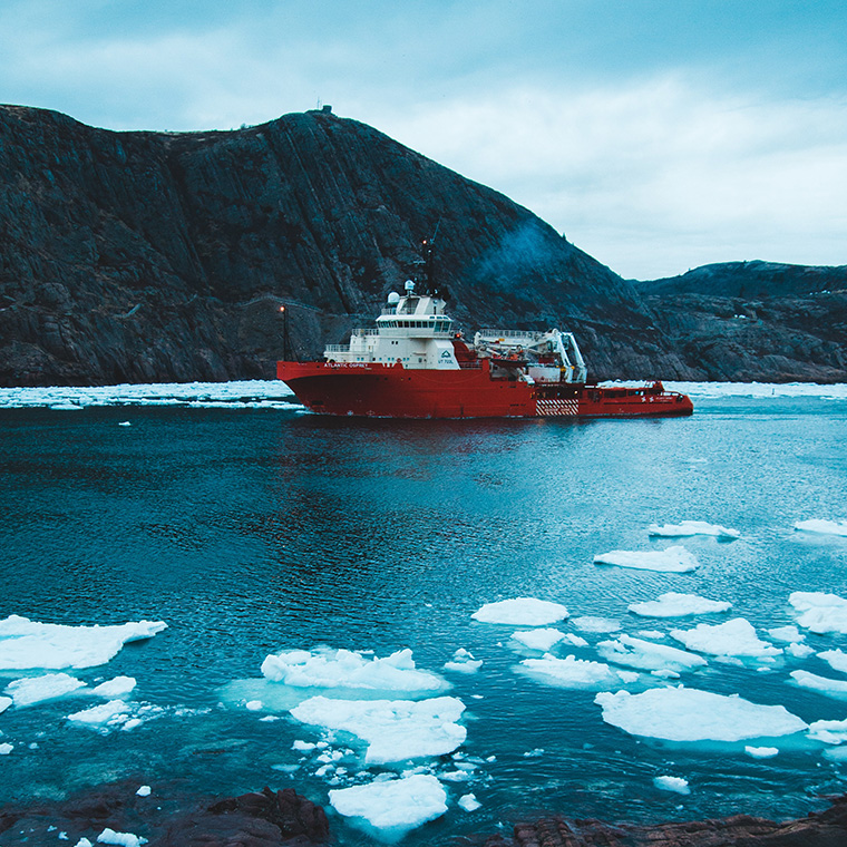 Lamor case study - An oil spill in icey waters