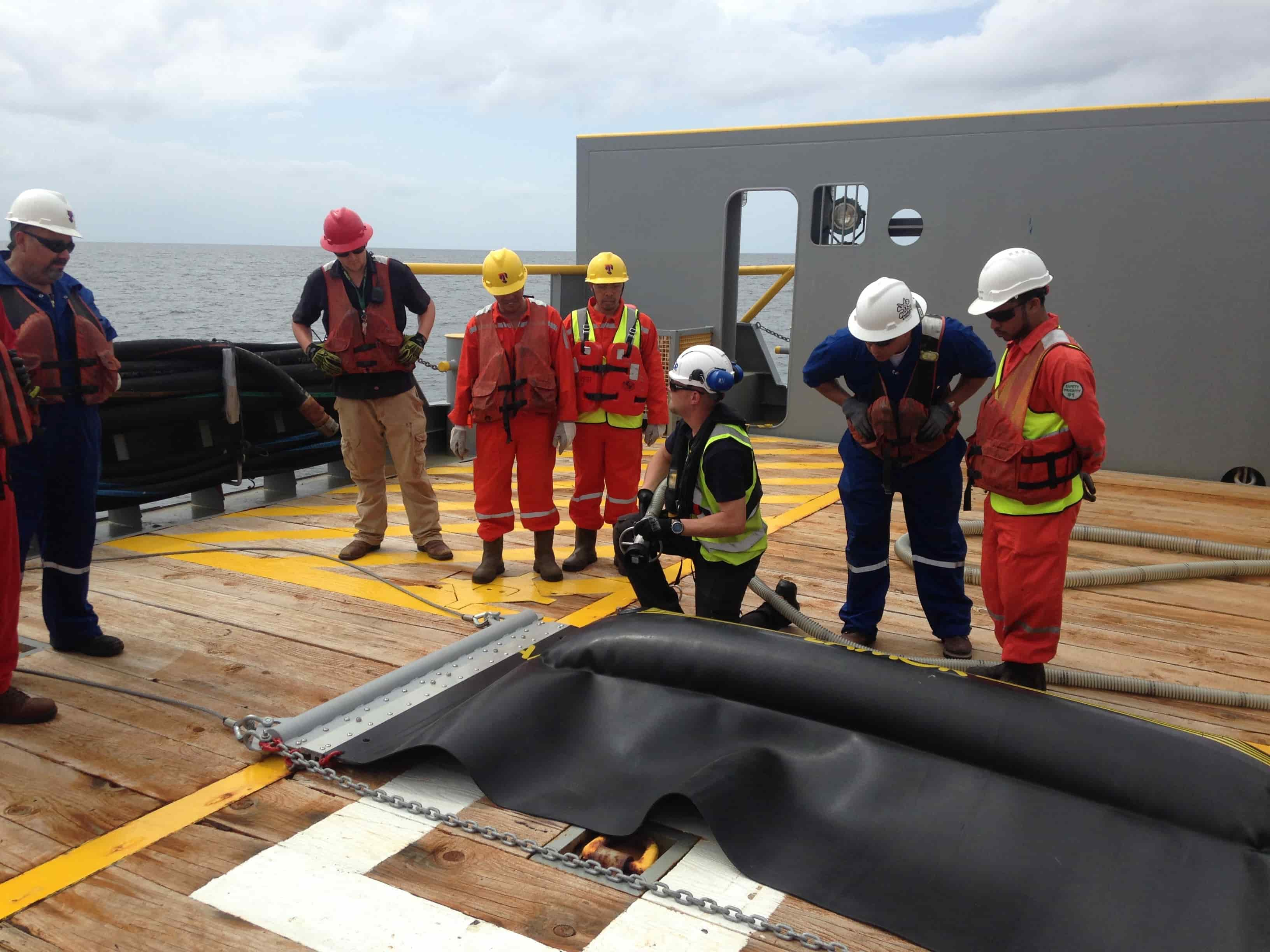 Equipment training is a natural part of the total services Lamor offers.