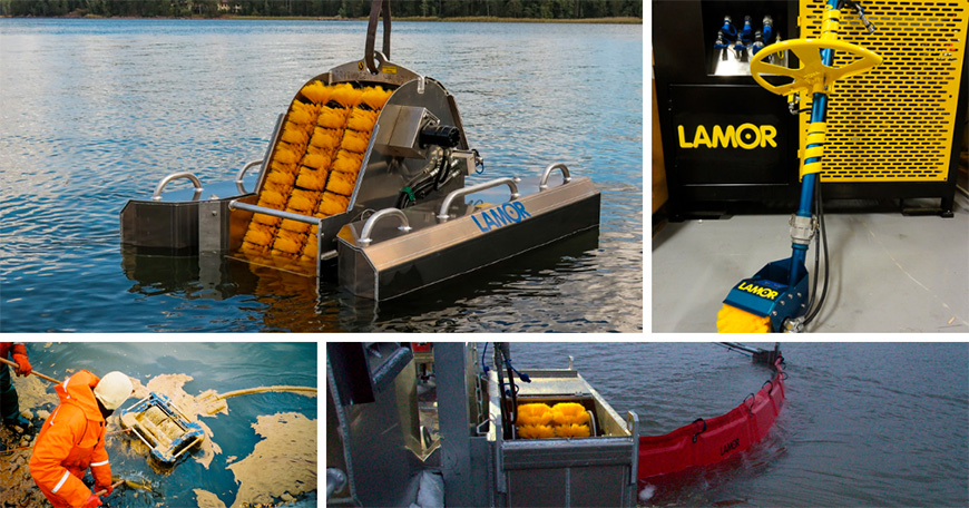 Oleophilic brush skimmers for oil spill response in difference scenarios