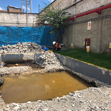 Lamor's waste management solutions at a soil and groundwater cleanup